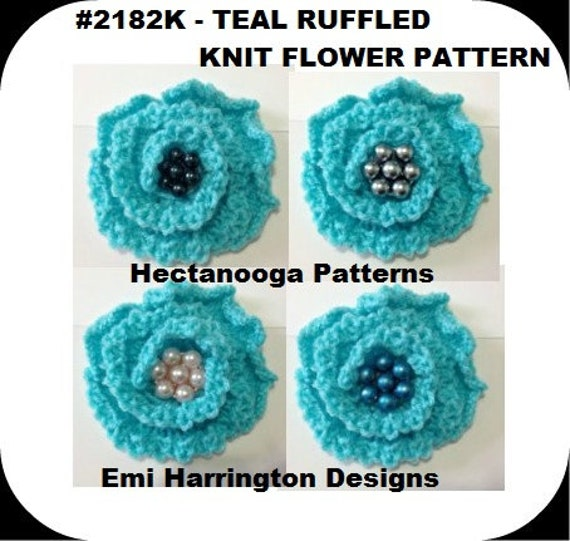 knitting pattern, Knit Flower, Knitting accessories and supplies, 3 ...