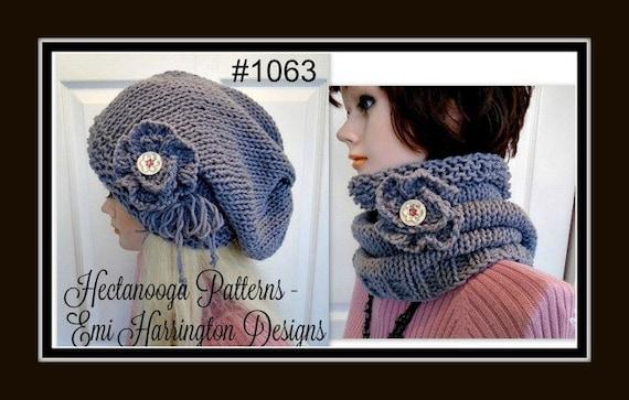 Hat Knitting Pattern Cowl Scarf Women Men Children Etsy