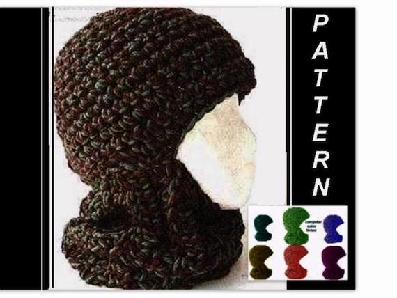 Crochet Hat Pattern Crochet Ski Mask Balaclava Ski Hat Etsy