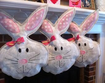 Set of 3 Easter burlap