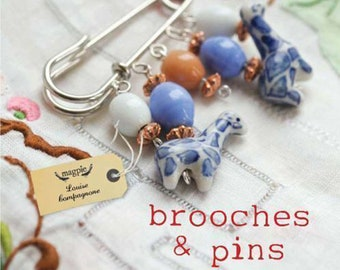 Brooches & Pins By Louise Compagnone paperback book