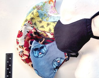 Reversible Face Mask cotton fitted large
