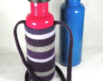 Water bottle cozy purple