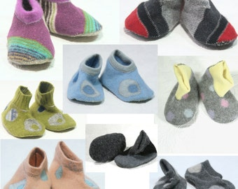 Upcycled baby booties