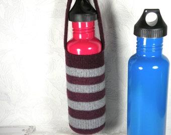 Water bottle cozy burgundy