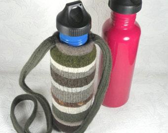 Water bottle cozy earth