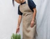 full linen apron (dark)