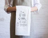 conversion chart tea towel