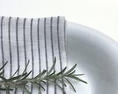 linen striped napkins