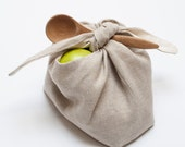 wrapping bento bag: oatmeal