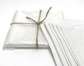 linen cocktail napkins ( white and black )