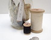 sewing kit in mason jar