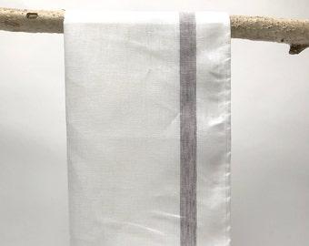french linen tea towel ( white )