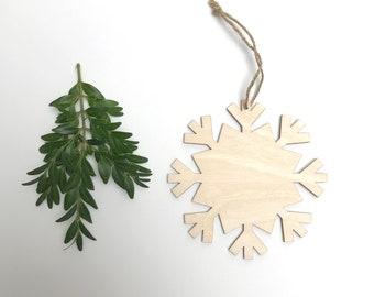 wood snowflake ornament- large