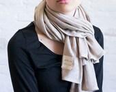 knit linen shawl
