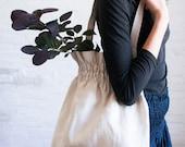 smocked linen bag (light)