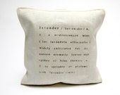 5 lavender sachets printed with text- reserved