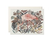 """Greeting Card - """"You're Perfect"""" - Flamingo and Angelica"""