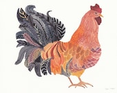 Bantam Chicken - Limited Edition Print