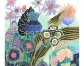 """Dandelions and Thistle- 8"""" x 10"""" archival print"""