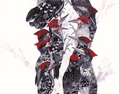 """Pecking Order - 11"""" x 14"""" and 16"""" x 20"""" Archival Print"""