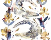 Alligators, Magnolias, and Hummingbirds - Archival Print