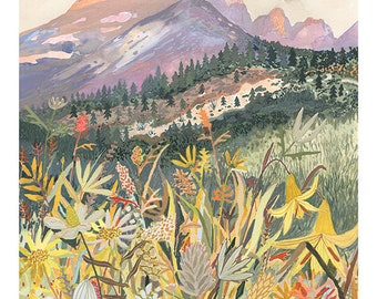 "Montana Wildflowers - 18"" x 24"" Limited Edition Print - 8"" x 10"""