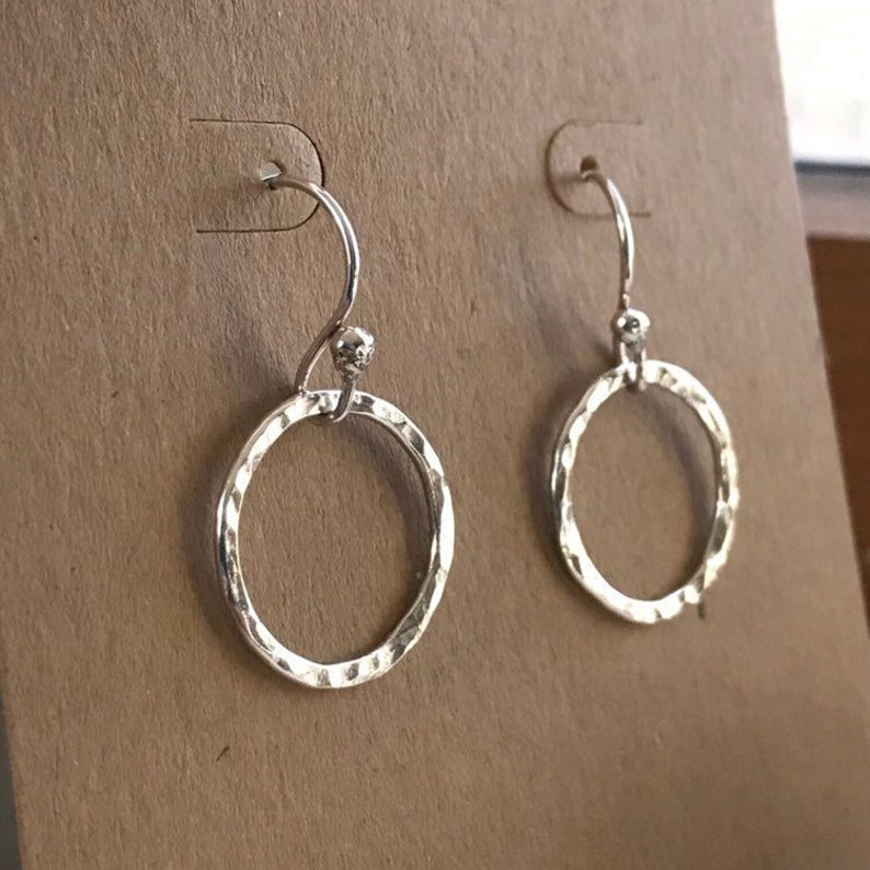 Hammered Wanderlust Earrings Inspired by the Film  Sterling image 0