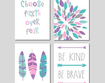 Girl Room Wall Decor Girl Bedroom Decor Teen Girl Room Decor Dorm Wall Art  Prints Teen Room Decor Dorm Decor Set Of 4   CHOOSE YOUR COLORS