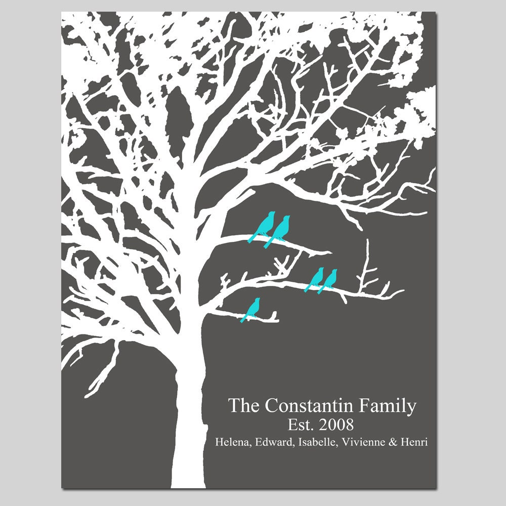 Family Tree Wedding Gift: Family Tree Wedding Gift Family Established Personalized