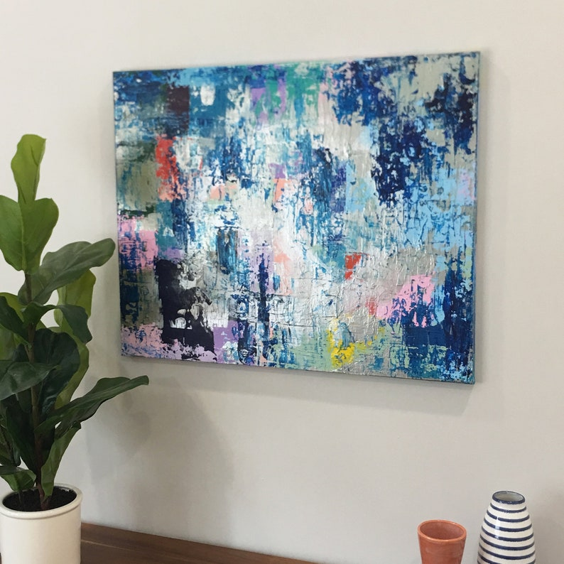 Amazing Colorful Abstract Art Modern Abstract Art Modern Abstract Painting Colorful Painting Teen Room Decor Teen Bedroom Art 24X30 Canvas Download Free Architecture Designs Ogrambritishbridgeorg
