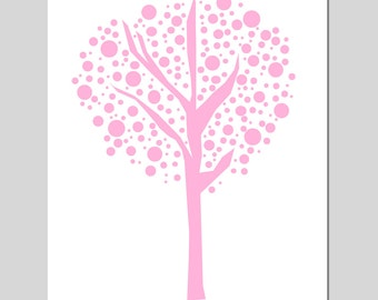 Tree Dot - 11x14 Original Print - Kids Wall Art for Nursery - Abstract, Simple, Geometric - CHOOSE YOUR COLORS