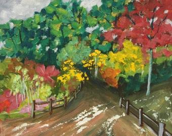 "Original Acrylic Painting, ""Tallula Falls"", 14""x11"""