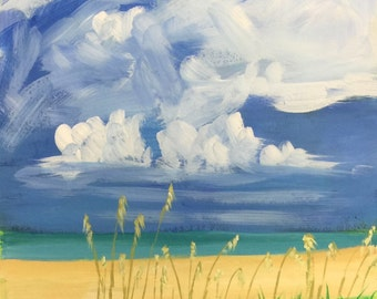 "Original Acrylic Painting, ""Thunderhead"", 14""x11"""