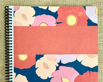 """August 2021-July 2022 itsjustemmy Weekly Day Planner with the """"Great Is Thy Faithfulness"""" Design Handmade Cover"""