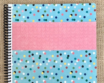"""August 2021-July 2022 itsjustemmy Weekly Day Planner with the """"Celebrate"""" Design Handmade Cover"""