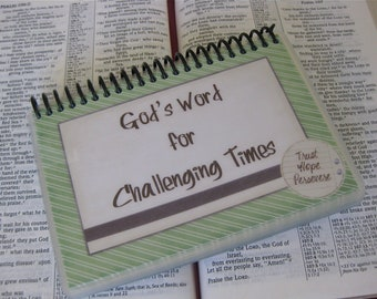 Laminated Bible Verse Cards, God's Word for Challenging Times, Spiral-Bound