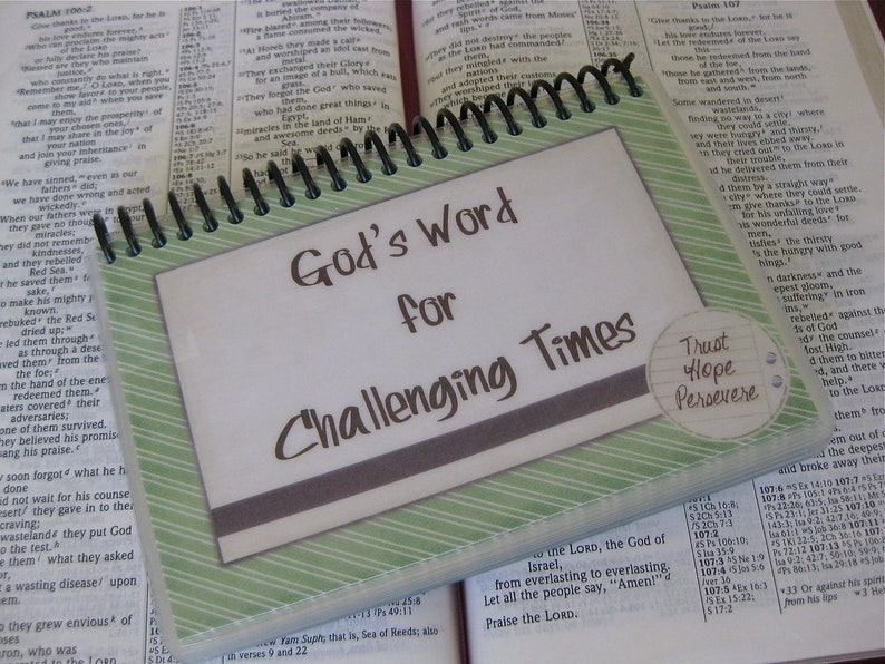 Laminated Bible Verse Cards God's Word for Challenging image 0