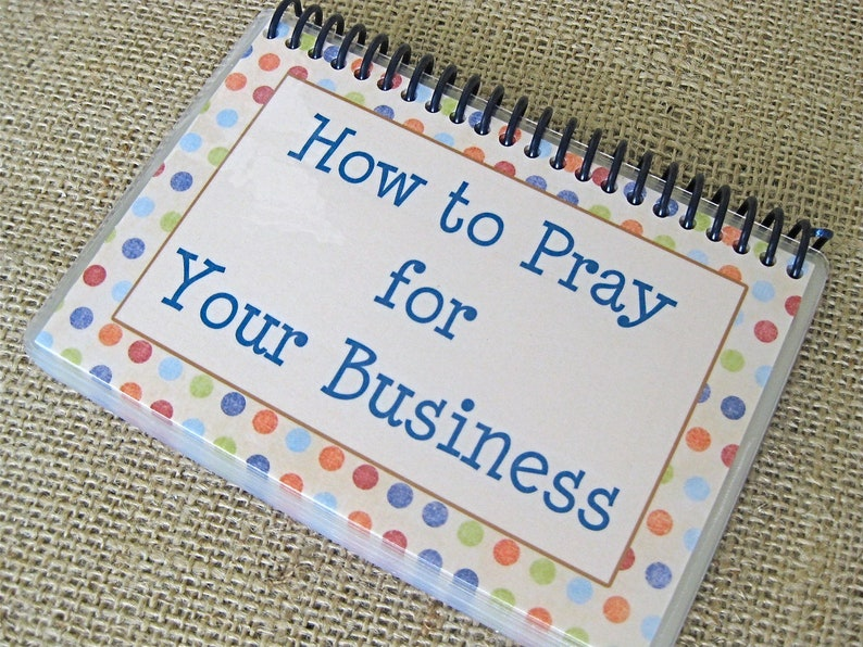 How to Pray for Your Business Laminated Prayer Cards image 0