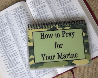 How to Pray for Your Marine, Spiral-Bound, Laminated Prayer Cards