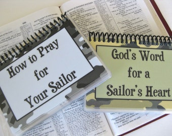 SALE - How to Pray for Your Sailor/God's Word for a Sailor's Heart - Combo Set, Spiral-Bound, Laminated Cards