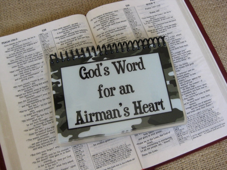 God's Word for an Airman's Heart Spiral-Bound image 0