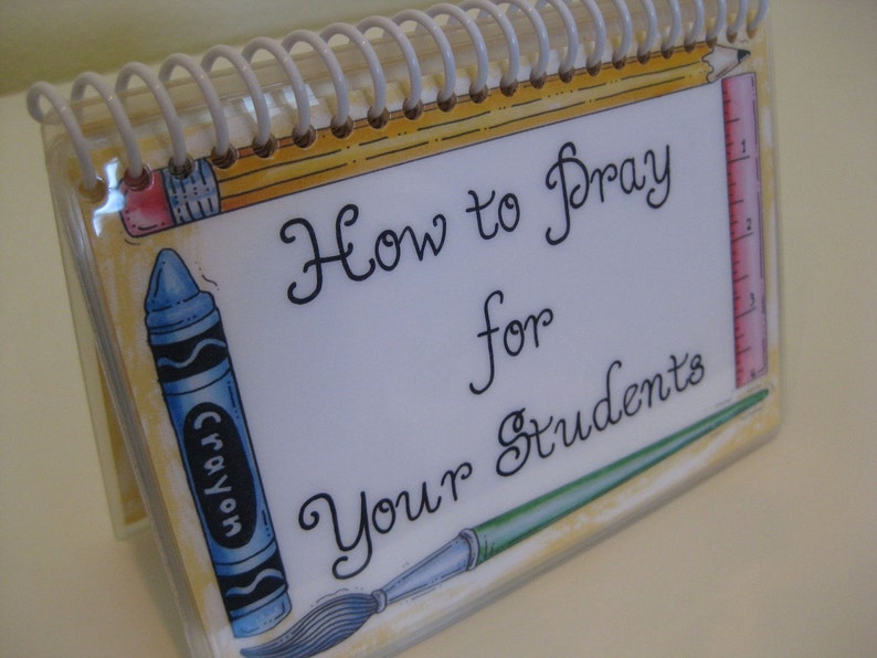 How to Pray for Your Students Spiral-Bound Laminated Prayer image 1