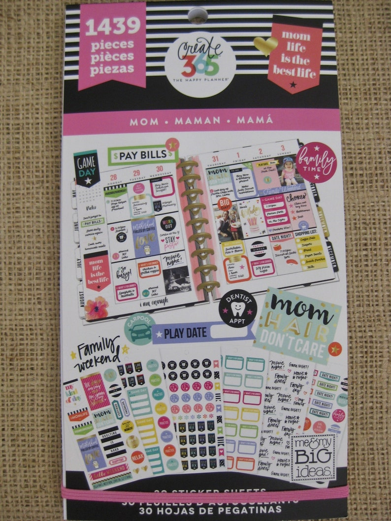 Mom Life Create 365 Happy Planner Sticker Value Pack 1439 image 0