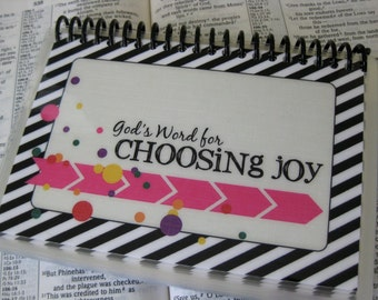God's Word for Choosing Joy, Scripture Memorization Cards, Laminated and Spiral-bound