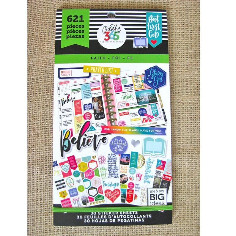 Faith Create 365 Happy Planner Sticker Value Pack 621 image 0