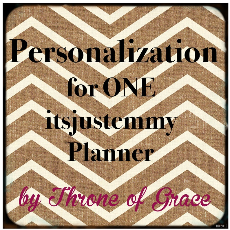 Personalization for ONE itsjustemmy Planner image 0