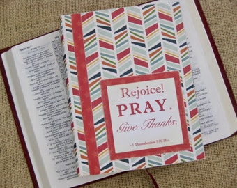 Legacy Prayer Journal, Bound Book, Multicolored Herringbone Design with Red Star Accents