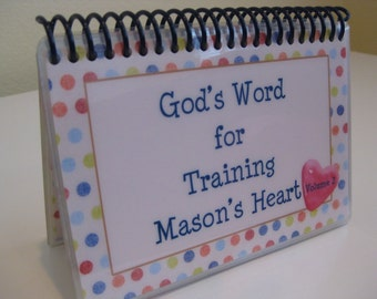 God's Word for Training Your Child's Heart - Volume 2 - PERSONALIZED SET, Spiral-Bound, Laminated Cards