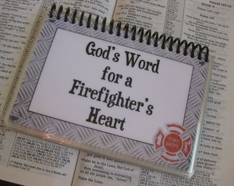 God's Word for a Fire Fighter's Heart, Spiral-Bound, Laminated Bible Verse Cards